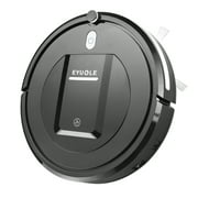 Robot Vacuum Cleaner– Higher Suction Robotic Vacuum Cleaner with Drop-sensing Technology, HEPA Filter for Pet Fur Robotic Vacuum -Black