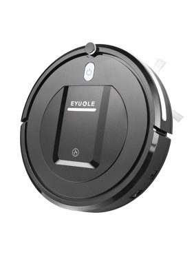 Robot Vacuum Cleaner? Higher Suction Robotic Vacuum Cleaner with Drop-sensing Technology, HEPA Filter for Pet Fur Robotic Vacuum -Black