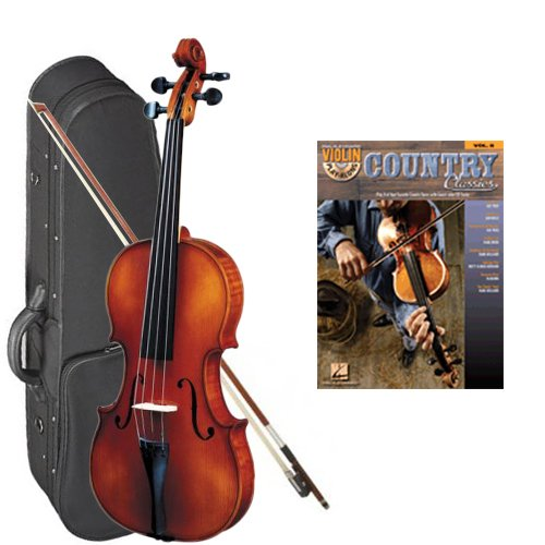 Strunal 260 Student Violin Country Classics Play Along Pack - 1/4 Size European Violin w/Case & Play Along Book