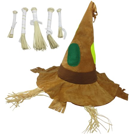 Halloween Quilt Kits (Nicky Bigs Novelties Patchwork Scarecrow Costume Kit, Multi, One)