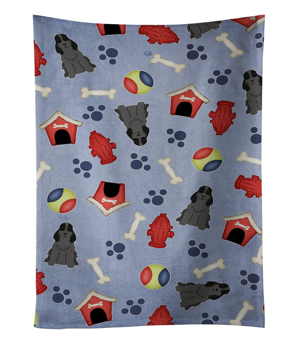 Dog House Collection Cocker Spaniel Black Kitchen Towel BB2705KTWL by Caroline's Treasures