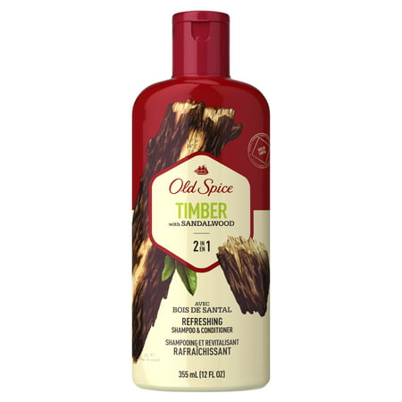 Old Spice Timber with Sandalwood Men's 2 in 1 Refreshing Shampoo & Conditioner, 12 fl (Best Way To Style Your Hair Guys)