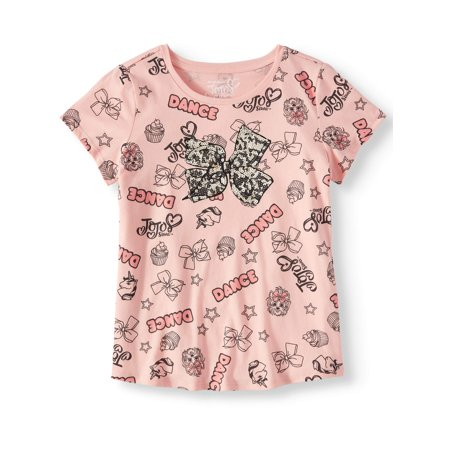All-Over JoJo Icon Bow Graphic T-Shirt (Little Girls & Big - Sonic Is A Girl