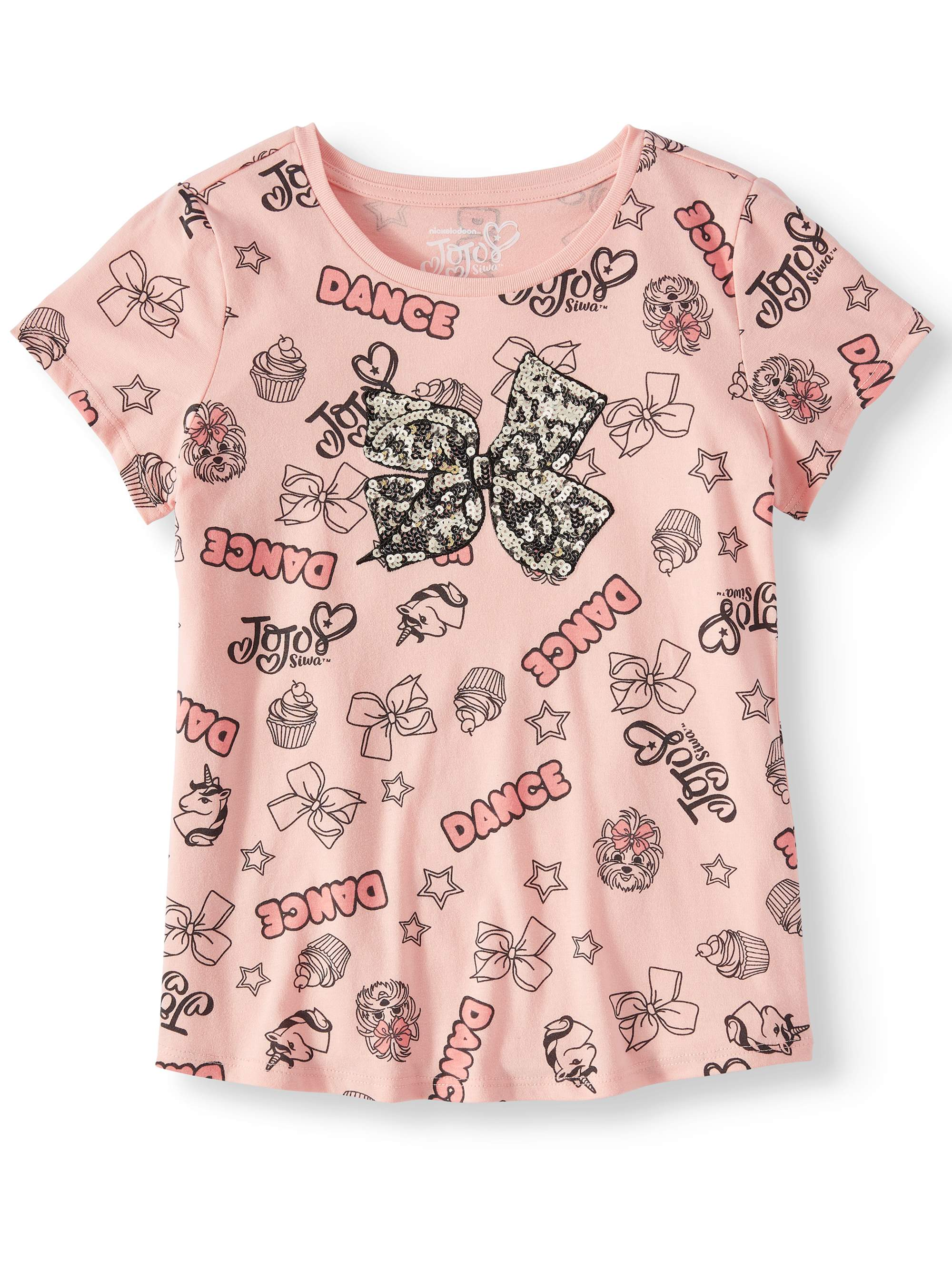 All-Over JoJo Icon Bow Graphic T-Shirt (Little Girls & Big Girls)