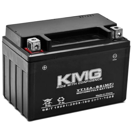 KMG Suzuki 650 SV650 1999-2002 YT12A-BS Sealed Maintenace Free Battery High Performance 12V SMF OEM Replacement Maintenance Free Powersport Motorcycle ATV Scooter Snowmobile KMG