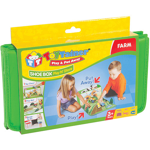 Toytainer Shoe Box Play-N-Store, Farm