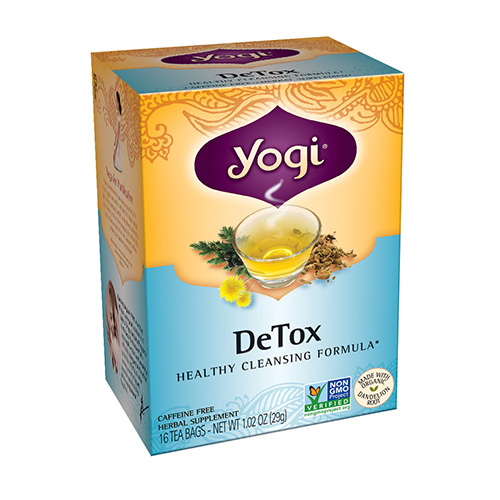 Yogi Detox Herbal Supplement Tea Bags - 16 Ea, 3 Pack