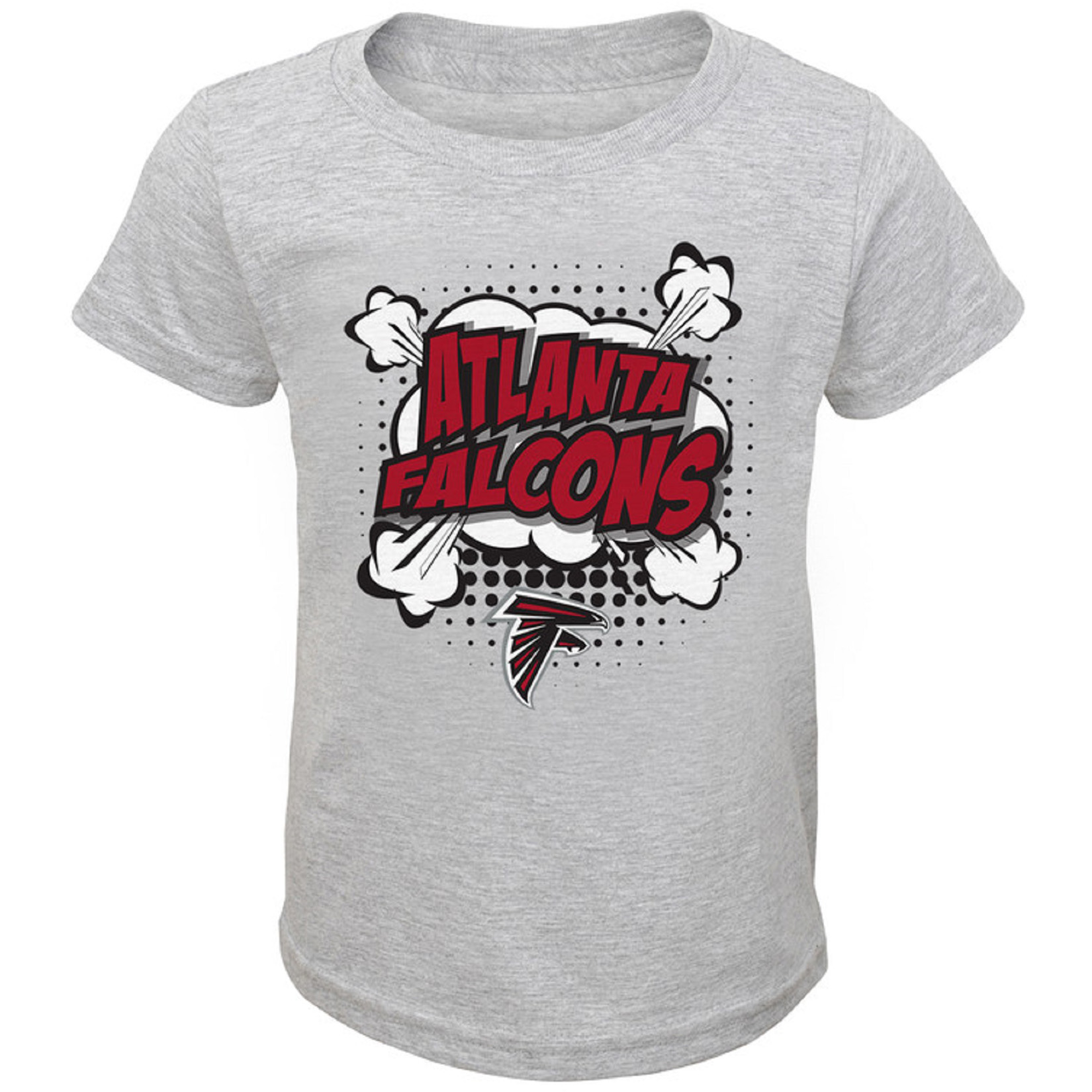 Infant Heathered Gray Atlanta Falcons Crew Neck T-Shirt