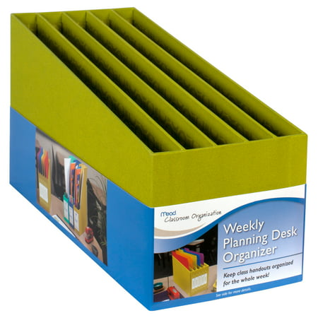 Mead Teacher Weekly Desk Organizer, Green - Teacher Desk Decor