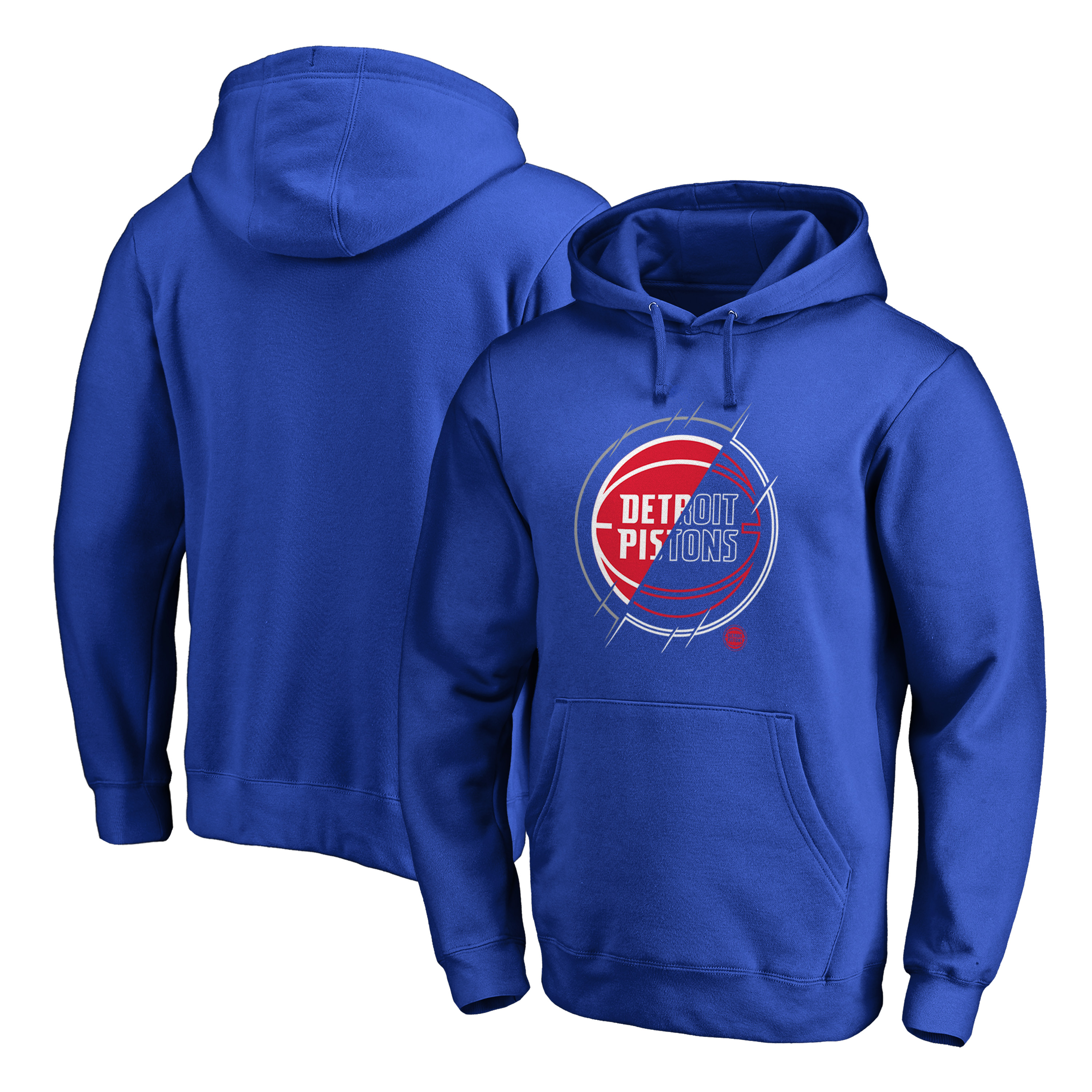 Detroit Pistons Fanatics Branded X-Ray Pullover Hoodie - Royal