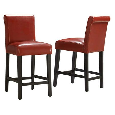 Weston Home Arica 24 In Faux Leather Counter Stool Set