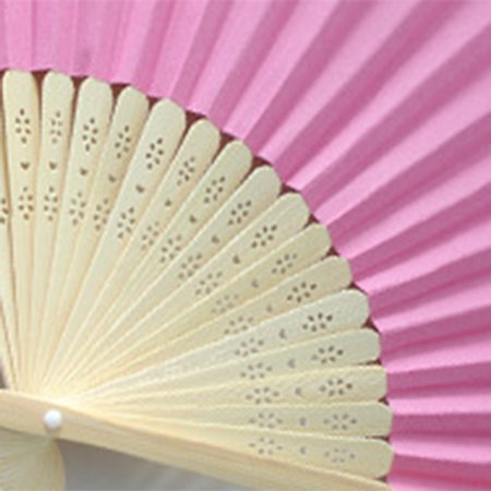 DIY Summer Bamboo Folding Hand Held Fan Chinese Dance Party Solid Color Fan - image 1 de 10