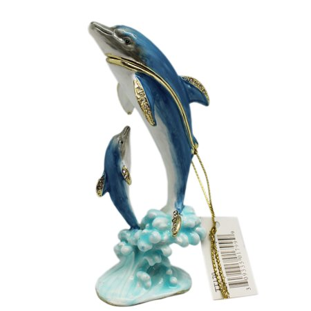 Dolphin Keepsake - Majestic Dolphin and Calf Keepsake Box Figure