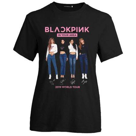 Fancyleo BLACKPINK 2019 World Tour Women's Summer Loose Print Short Sleeve T-Shirt - (Best Summer T Shirts 2019)