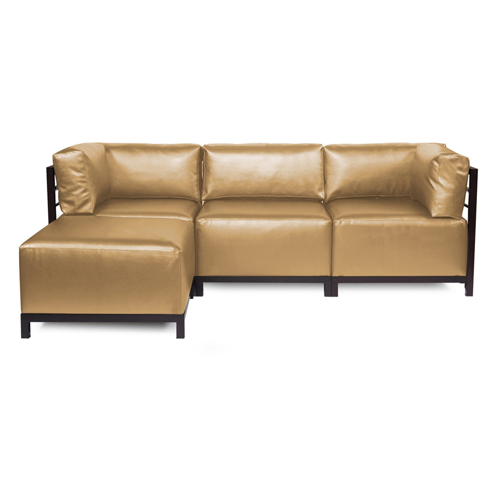 Howard elliott shimmer axis 4 piece sectional with titanium frame 95 5 wide pol walmart com