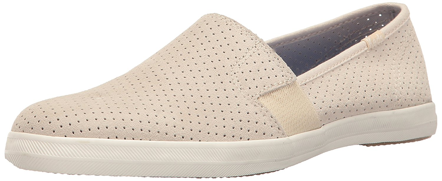 Keds WH56465 Women's Chillax a-Line Perf Suede Fashion Sneaker, Cream, 5 M US by Keds