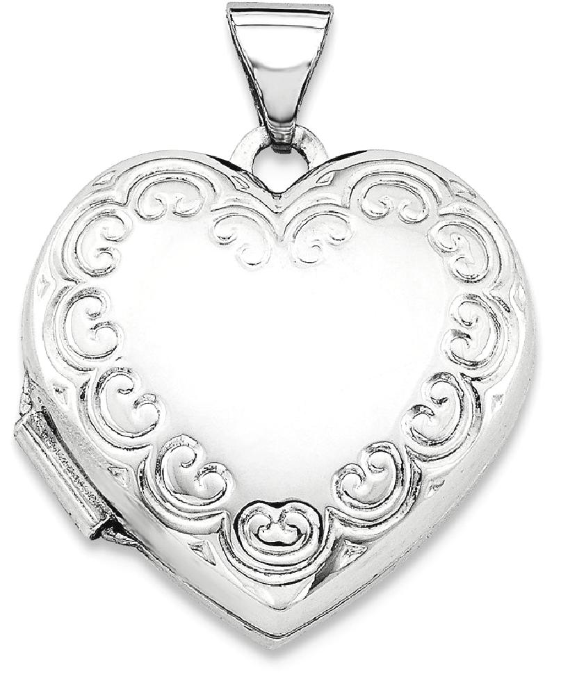 ICE CARATS 925 Sterling Silver Heart Photo Pendant Charm Locket Chain Necklace That Holds Pictures Fine Jewelry Ideal... by IceCarats Designer Jewelry Gift USA