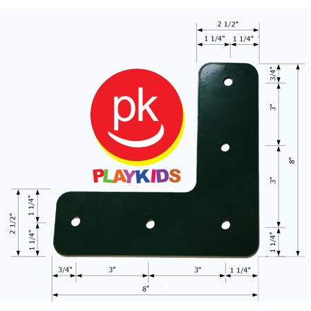 Playkids® L Bracket 90 Swing Set L-bracket Play Set Hardware Monkey Bar or A-frame Ladder Playground Jungle Gym