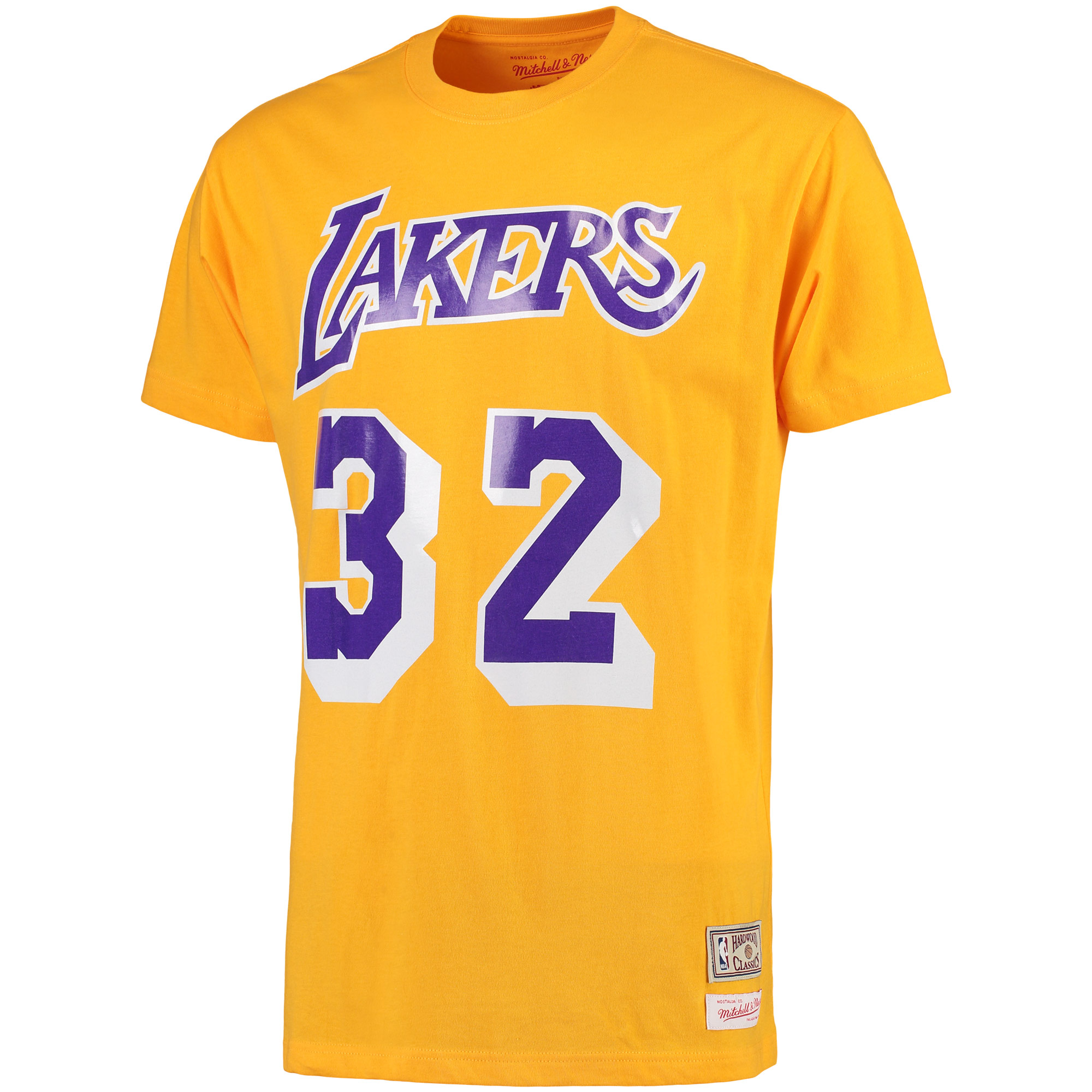 half off 621fe a7d3d Magic Johnson Los Angeles Lakers Mitchell & Ness Hardwood Classics Retro  Name & Number T-Shirt - Gold