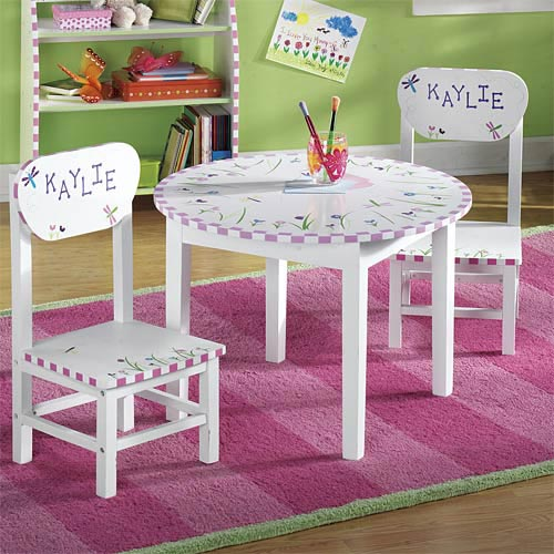 Personalized Dragonfly Table and Chair Set