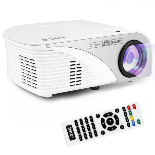 PYLE PRJG95 - Digital Multimedia Projector with 1080p Support, Up to 120in Display Screen, HDMI + USB Reader