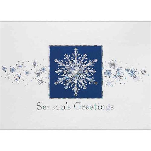 Birchcraft Studios 0861 Prismatic Greetings - Silver Lined Envelope with White Lining - Blue Ink - Pack of 25