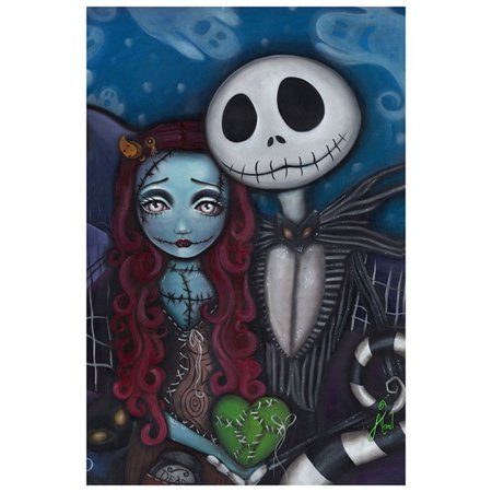 Jack And Sally This Is Halloween (This is True Love by Abril Andrade Jack Skellington Sally Framed Fine Art)