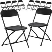 Flash Furniture 10-Pack HERCULES Series 800 lb Capacity Premium Plastic Folding Chair, Multiple Colors by Flash Furniture