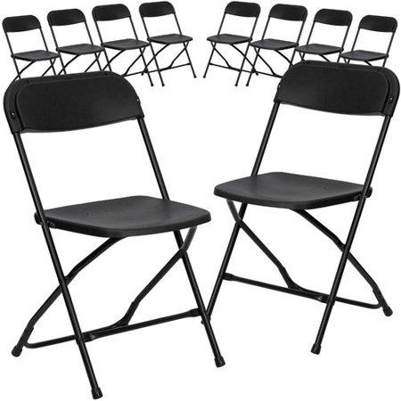 Flash Furniture 10-Pack HERCULES Series 800 lb Capacity Premium Plastic Folding Chair, Multiple Colors - Sweetheart Chair