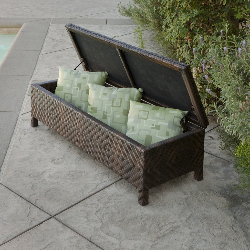 Boyd Brown Wicker Storage Ottoman