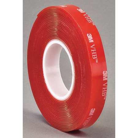 """3M 4910 VHB Tape 1"""" x 5yd, Clear, 40 mil 3M 4910"""