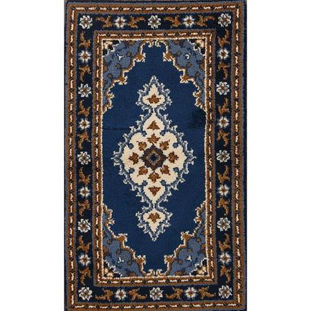 Rugsource Handmade Traditional Blue 3x5 Rya Sweden Oriental