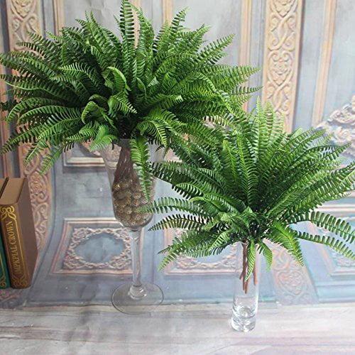 38CM Artificial Lifelike Large Silk Boston Fern Plant Green Grass Home Decoration - 1PCS