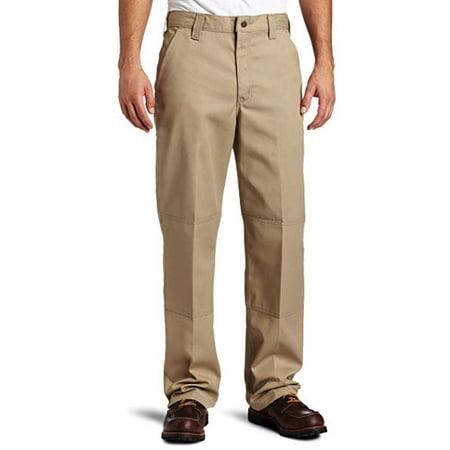 Carhartt Work Clothes - Carhartt Mens Twill Double Front Work Pant B316, Khaki, 38x32