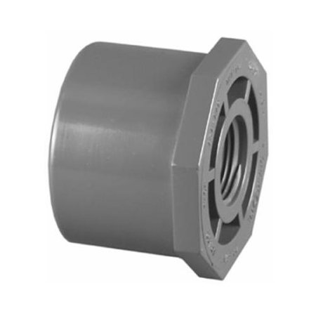 Flush Reducer - Charlotte Pipe & Foundry PVC 08108  2200HA 1 x 3/4-Inch PVC Schedule 80 SPG x FPT Reducer Bushing (Flush Style)