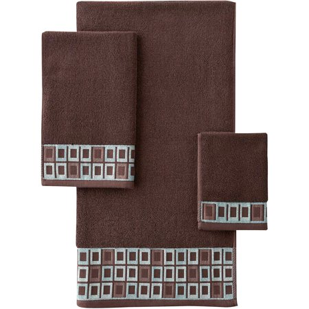 Better Homes and Gardens Gridlock Decorative Bath Towel Collection