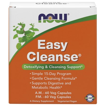 NOW Supplements, Easy Cleanse, AM/PM with unique blend of Specialized Herbs, Nutrients and Green Foods, 120 Veg (Colon Cleanse Garden Greens Fiber Blend Reviews)
