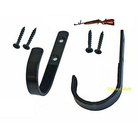 Gun Hanger Rack Shotgun Rifle Archery Bow Wall Mount Storage Hooks, GNH02 (1-PAIR)