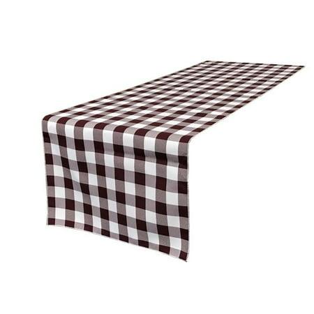 TCcheck14x108-BurgundyK17 Polyester Gingham Checkered Table Runner, White & Burgundy - 14 x 108 in.](Gingham Table Runners)