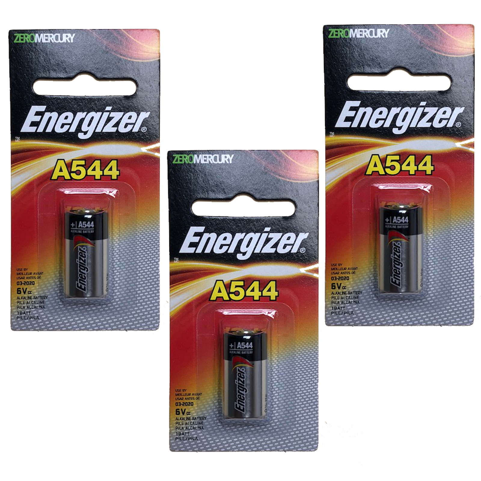 3x Energizer A544 6V Photo Battery Replace Toshiba 4LR44, Neda 1414A, 1406LC by Energizer