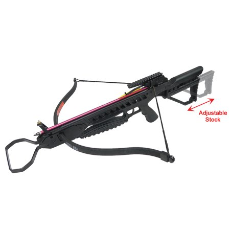 175 lb Black / Vista Camouflage Hunting Crossbow Archery Bow +8 Arrows +Rail Lube +Stringer +Rope Cocking Device 150 lbs thumbnail