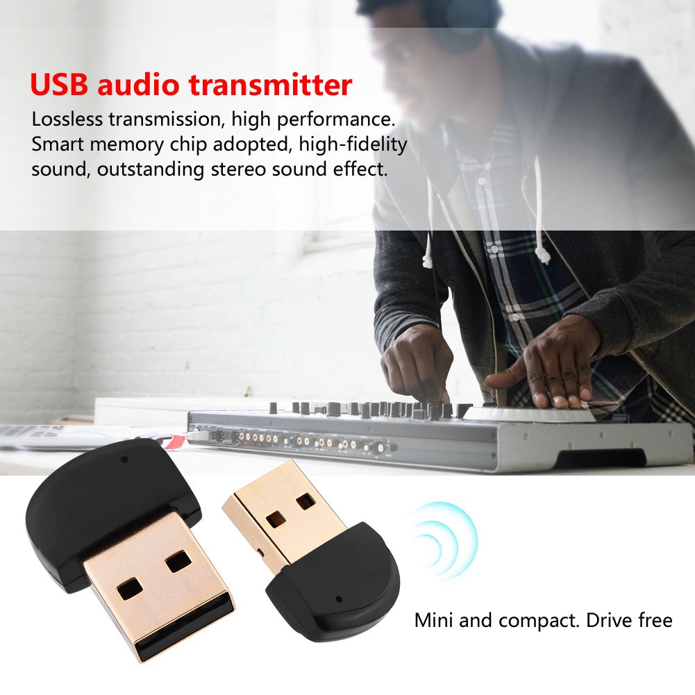 Yosoo Audio Transmitter Mini Drive Free Usb Bluetooth 4 2 Audio Adapter Transmitter Wireless Usb Dongle Walmart Canada