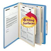 Smead Classification Folder, 2 Divider, Blue, Letter, 10/BX (14001)