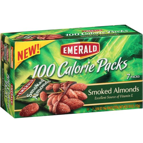 Emerald 100 Calorie Packs Smoked Almonds, 0.56 oz, 7 count