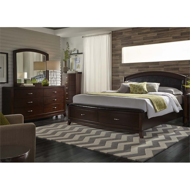 Liberty Furniture Avalon King Storage Bed Dresser Amp Mirror