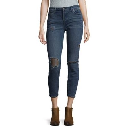 7bbff8c7367 Free People - Fishnet Distressed Cropped Jeans - Walmart.com