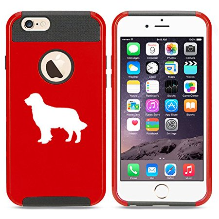 For Apple iPhone 7 Shockproof Impact Hard Soft Case Cover Golden Retriever