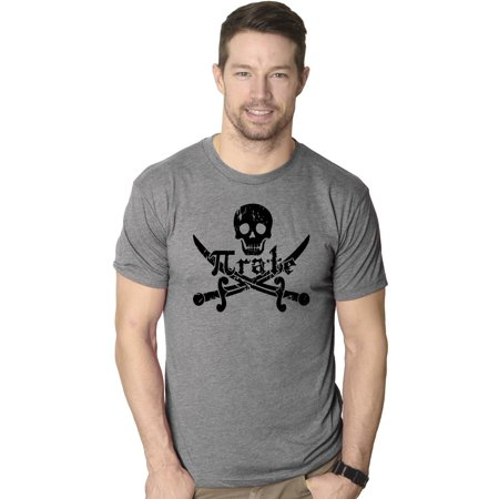Pirate Skull and Crossbones Math Pi-Rate T-Shirt Funny Mathematical - Skull Crossbones
