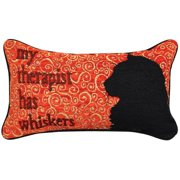 Manual Woodworkers & Weavers Kitty Talk Whiskers Lumbar Pillow