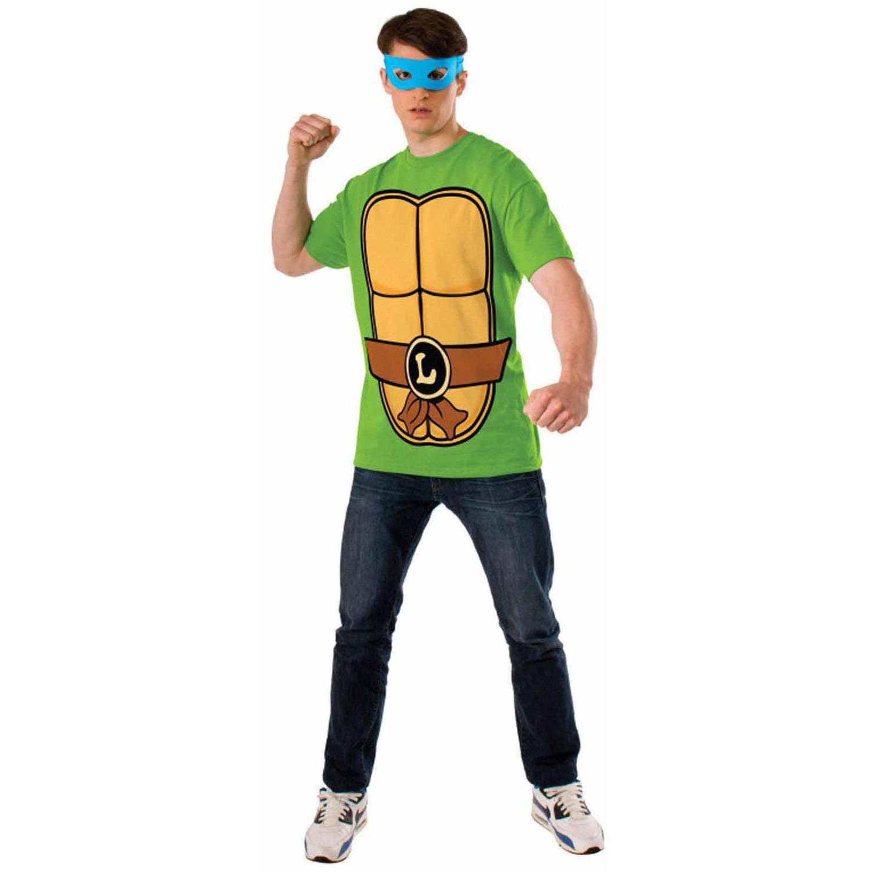 Teenage Mutant Ninja Turtles Leonardo T-Shirt Kit Men's Adult Halloween Costume